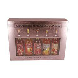 Coffret 5 toppers pour champagne et prosecco