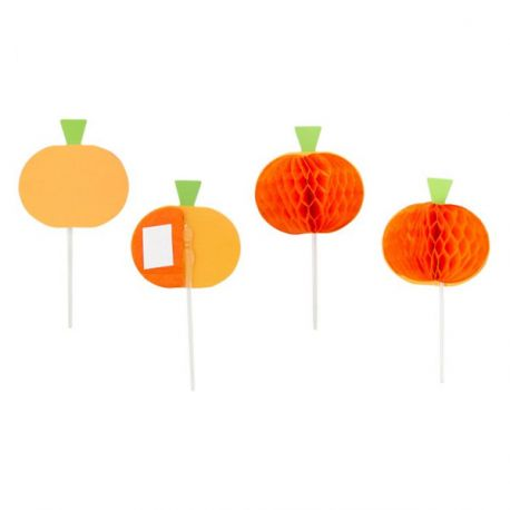 Cupcake Toppers citrouille Wilton (x12)