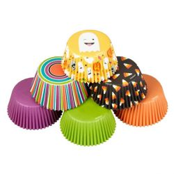 Caissette cupcake Halloween emoji assorties Wilton (x150)