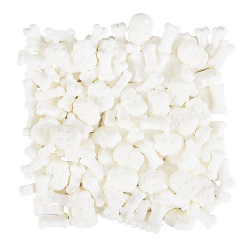 Décors comestibles crânes blancs Wilton