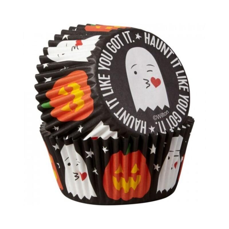 Caissette cupcake Halloween Haunt it like you got it Wilton (x75)