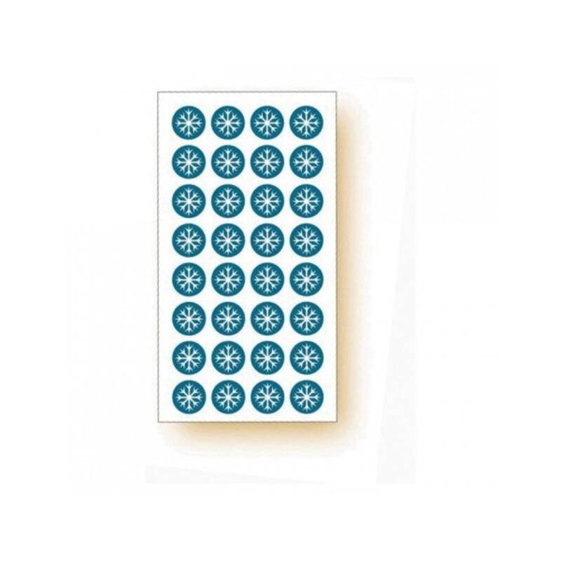 120 ahdésifs symbole flocon