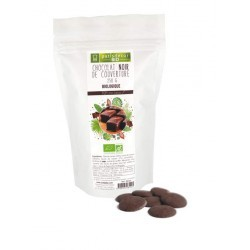 Chocolat Noir Bio  de couverture  250 g Barry Patisdécor