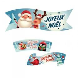 Plaquette azyme Joyeuses Noël (x24) 3 modèles