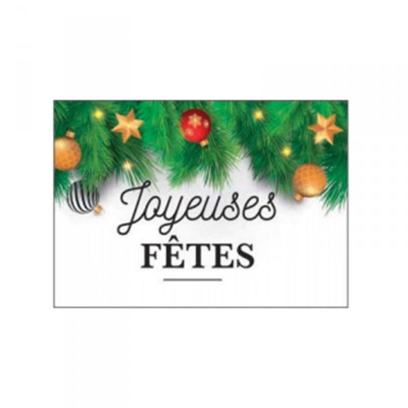 """plaquette azyme """"Joyeuses fêtes"""" (x24)"""