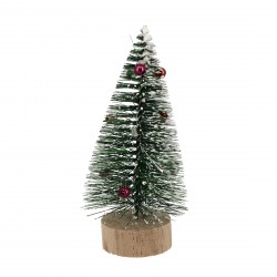 Sapin de Noël décoré sur pique 3D Patisdécor