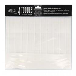 Toque en papier plissé H 23 cm Patisdécor (x4)