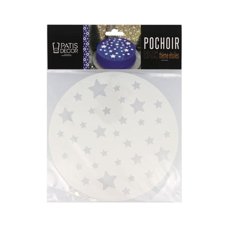 Pochoir étoiles Patisdécor