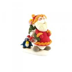 Décor comestible Père Noël et pingouin (x20)