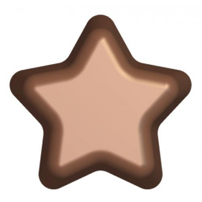 Moule chocolat 2 étoiles Patisdécor