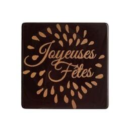 Décors chocolat carré joyeuses fêtes (x60)