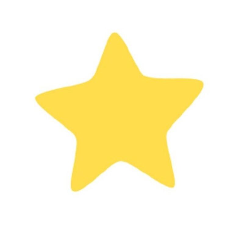 Décors chocolat étoile jaune