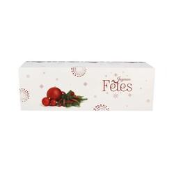 Boîte à bûche Joyeuses fêtes (x25)