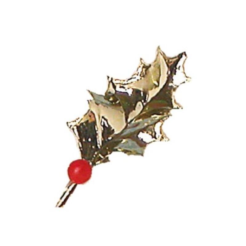 Feuilles de houx dorée (x144)