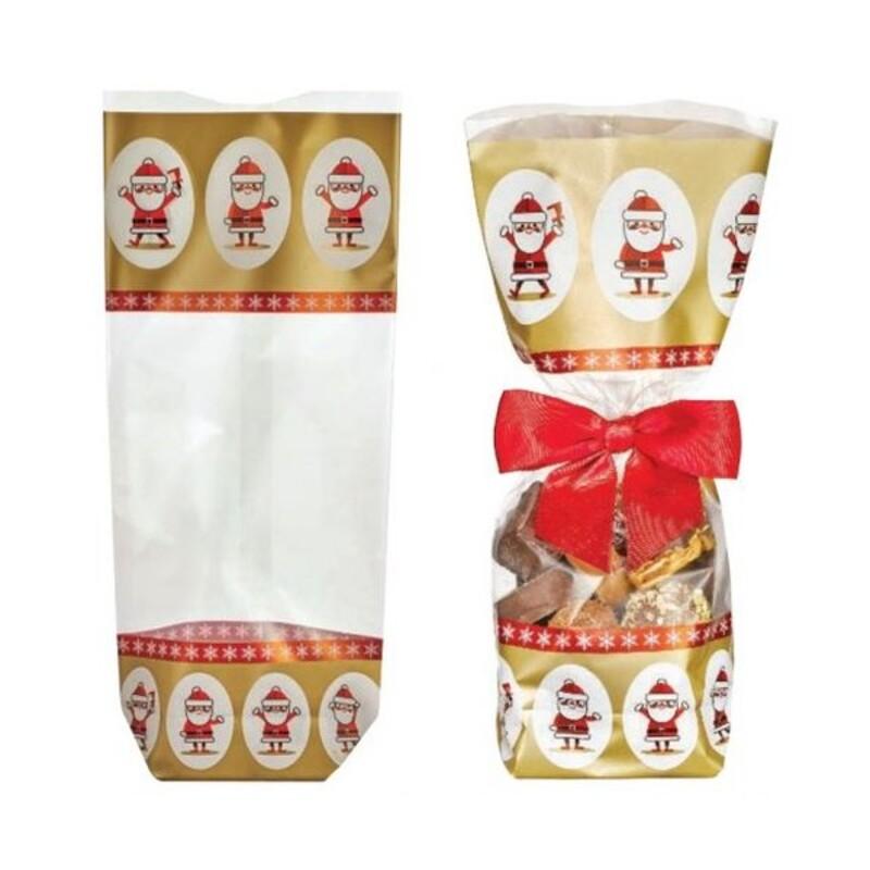 Sachets fond Père-Noël doré (x100)