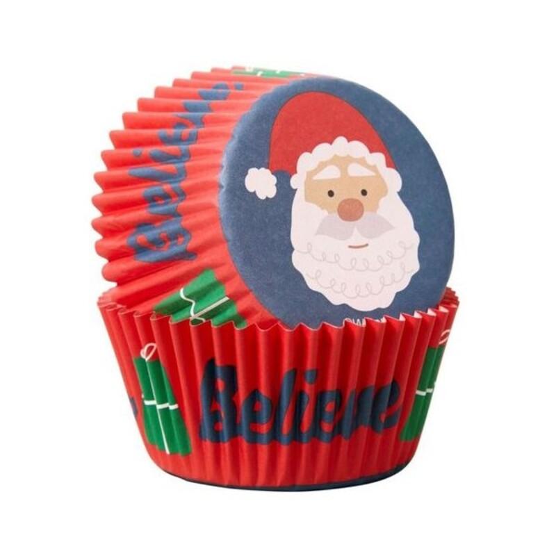 Caissette cupcake Père Noël (x75)