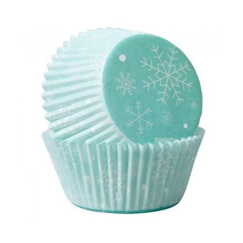 Caissette Cupcake Flocons de neige Wilton X 75