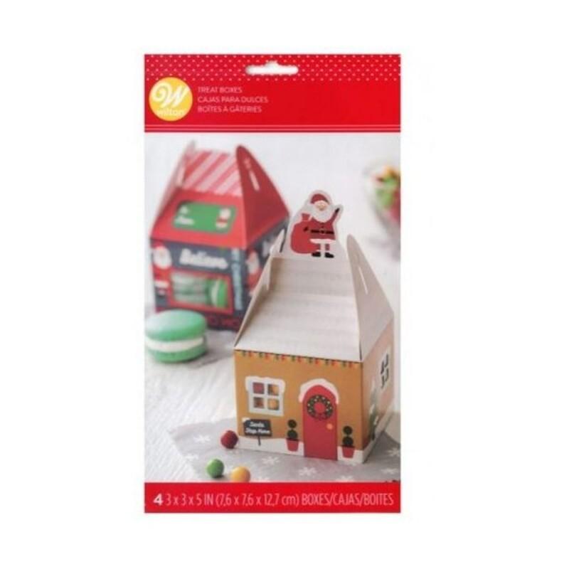 Boîte à confiserie maison de Noël (x4)