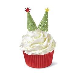 Cake toppers sapin de Noël Wilton (x12)