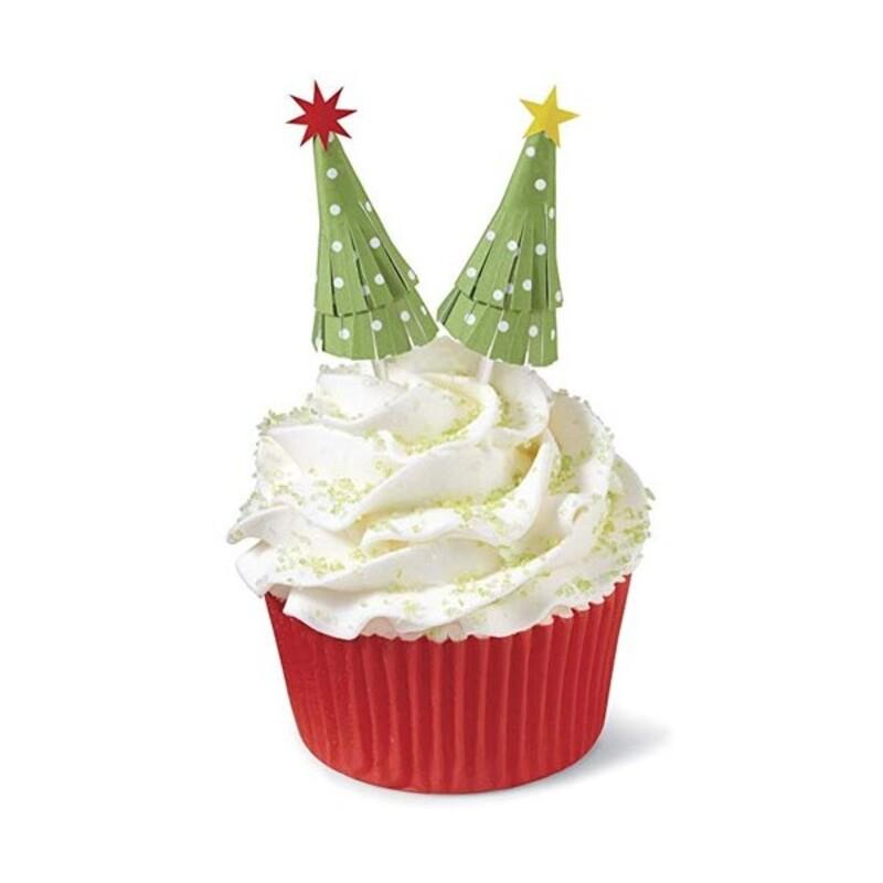 Cake toppers sapin de Noël (x12)
