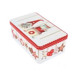 Boîte à biscuits Noël rectangulaire