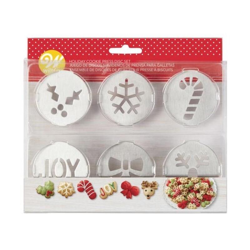 Kit de 6 disques pour presse à biscuit de Noël