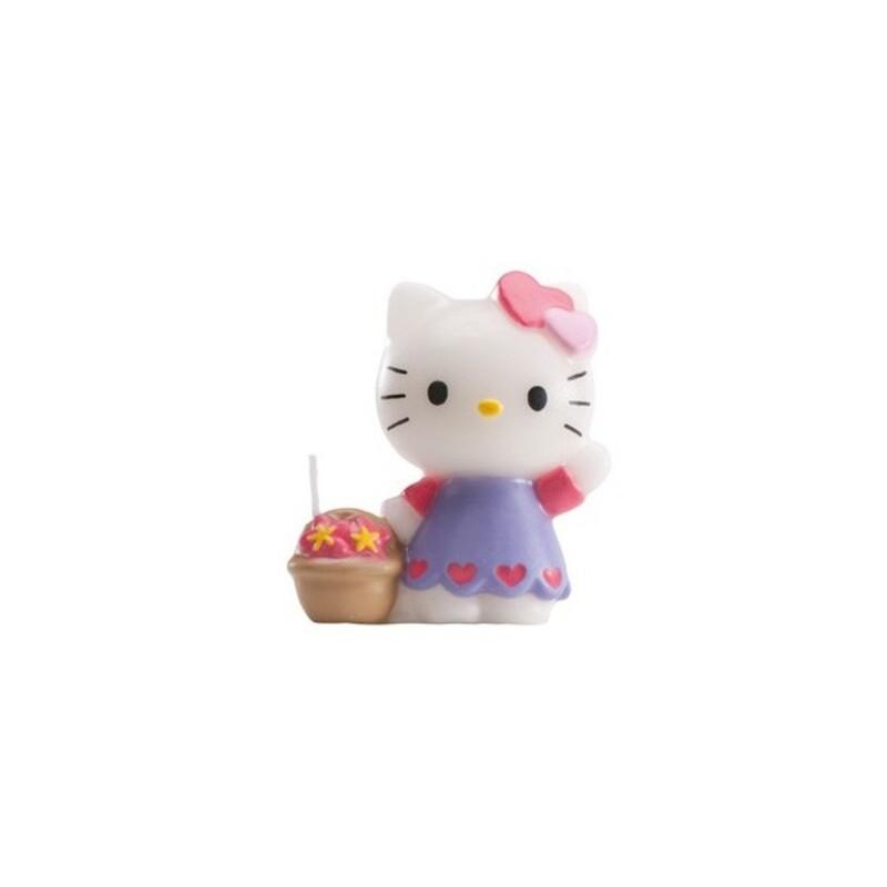 Bougie Hello Kitty sur pique