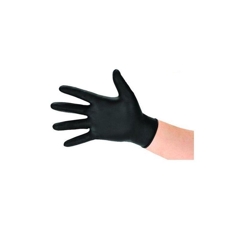 Gant nitrile noir jetable x 100