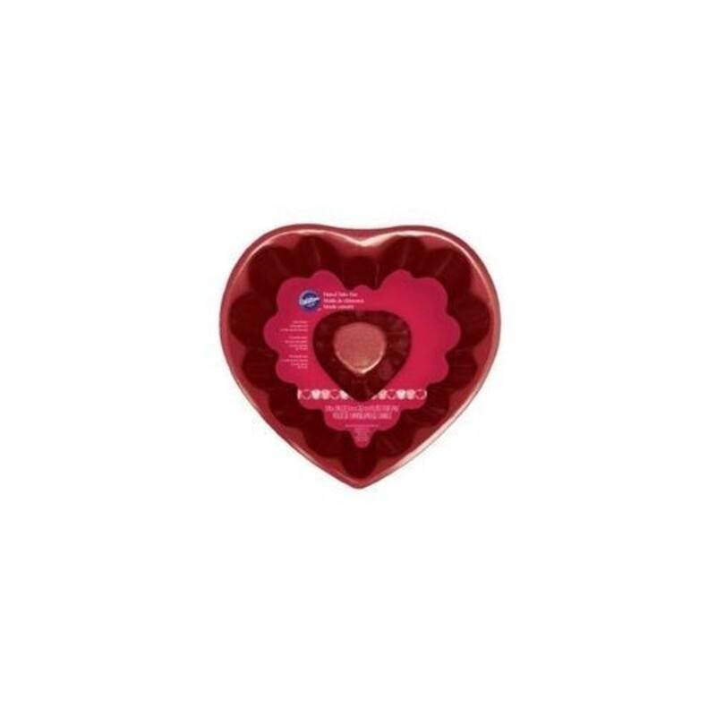 Moule coeur cannelé 20 cm Wilton