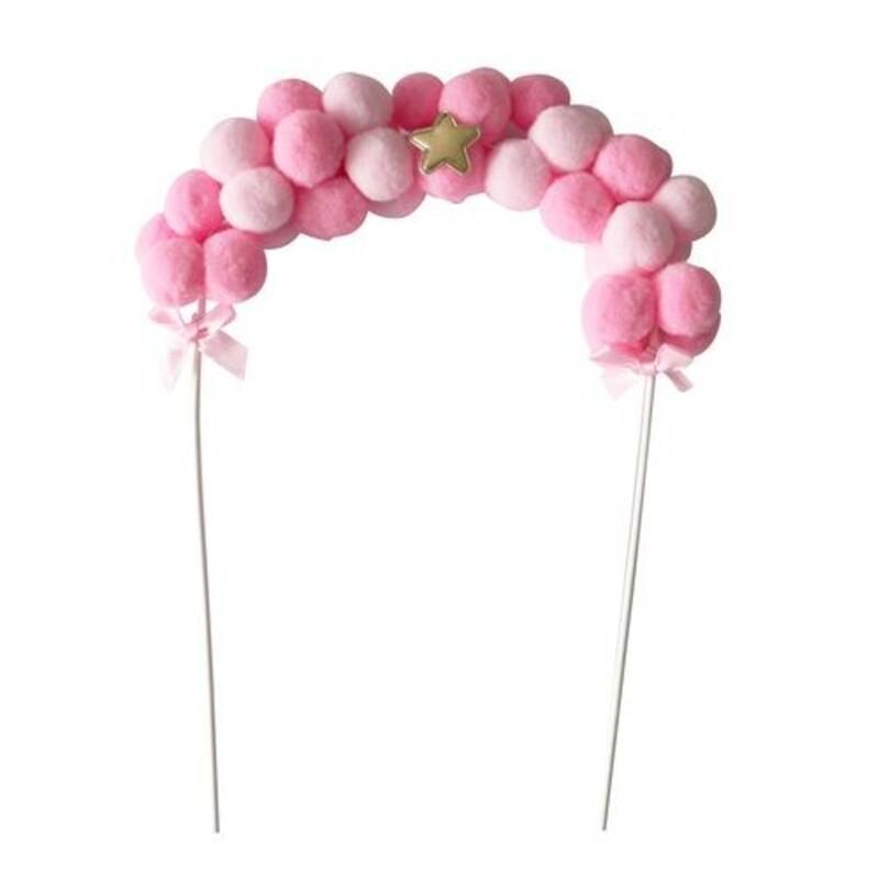 Cake topper banderole de ballons rose