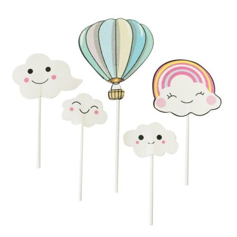 Cake toppers nuages et montgolfière