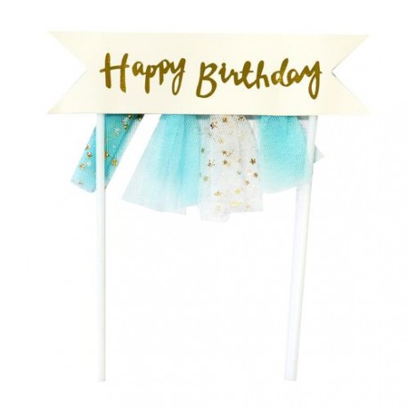 Cake topper banderole anniversaire Patisdécor