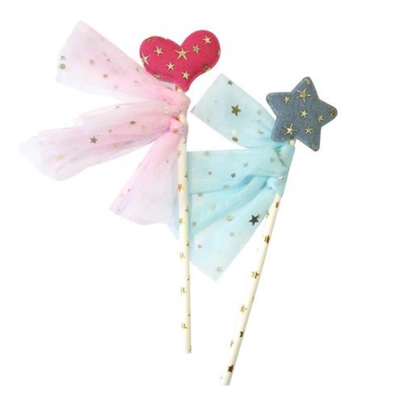 Cake toppers coeur et étoile (x2) Patisdécor