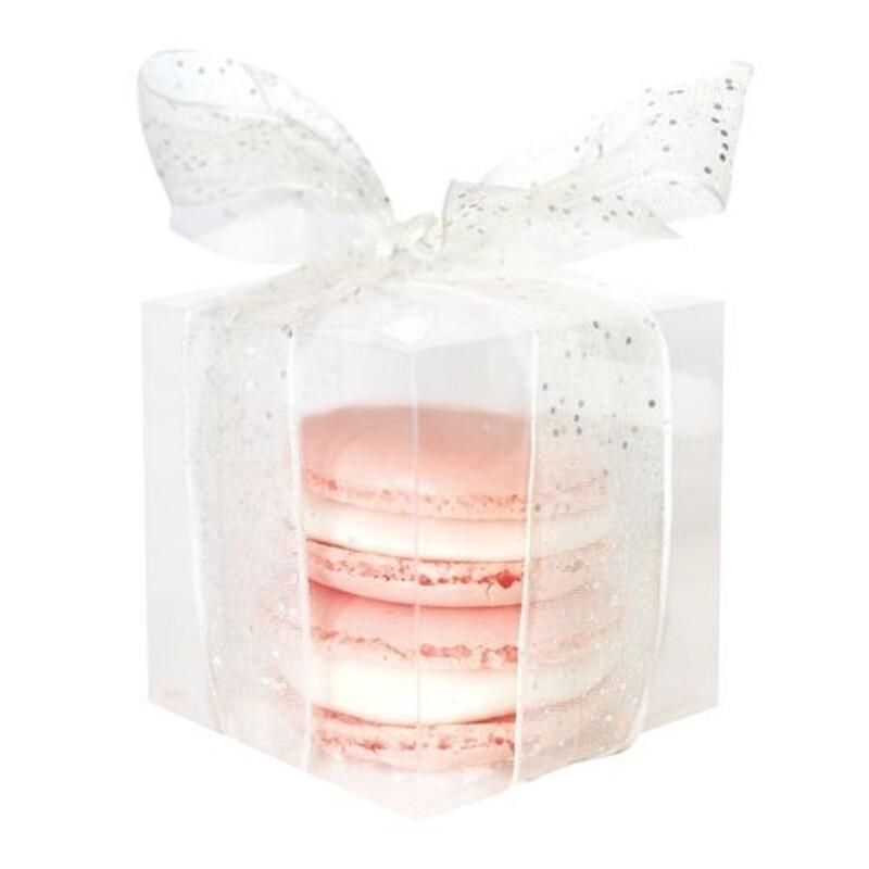Boîte à dragées cube transparentes polypro(x5)