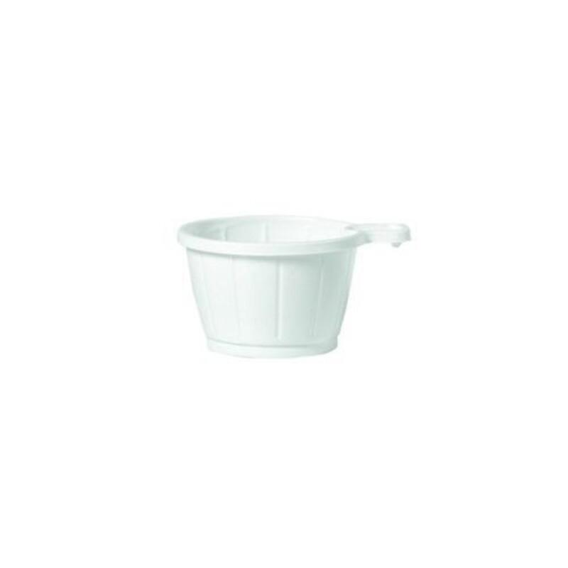Tasse à café blanche en plastique (x50)