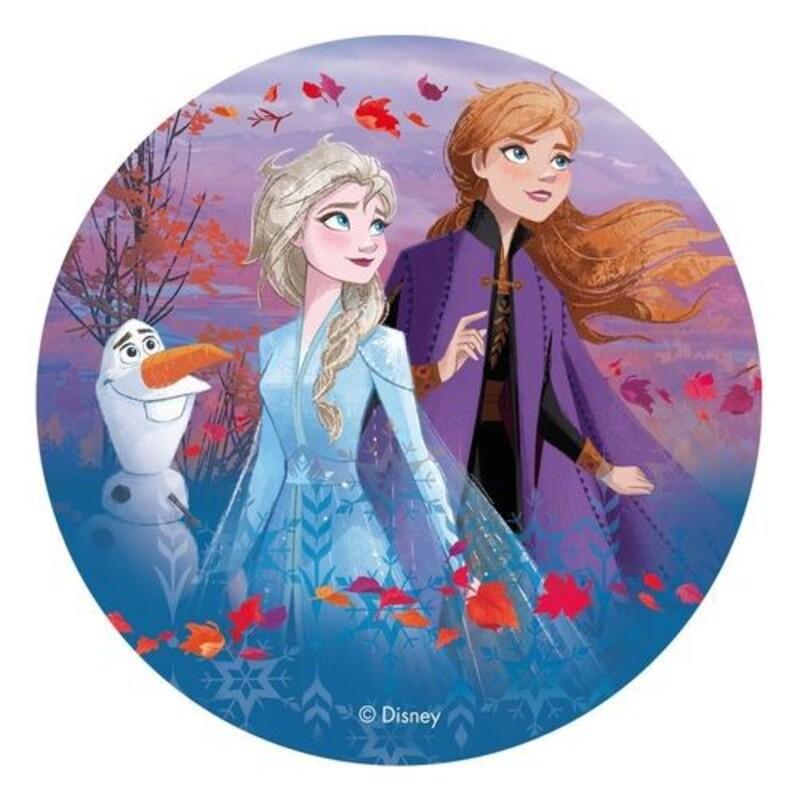Disque azyme Elsa, Anna et Olaf La Reine des Neiges 2 - 20 cm