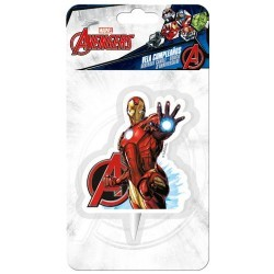 Bougie 2D Iron Man Avengers