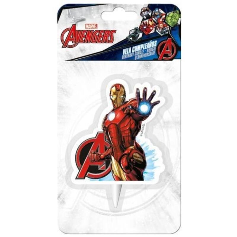 Bougie 2D Iron Man Avengers