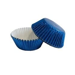 Caissette cupcake bleu métallisé PME (x30)