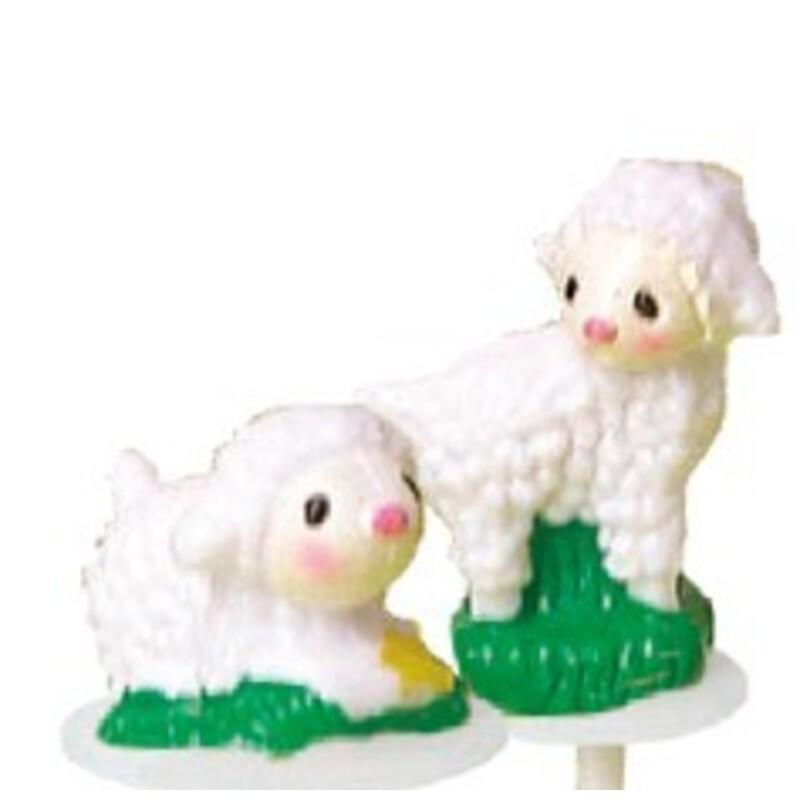 Boite de 72 assortiment de 2 agneau sur pique.