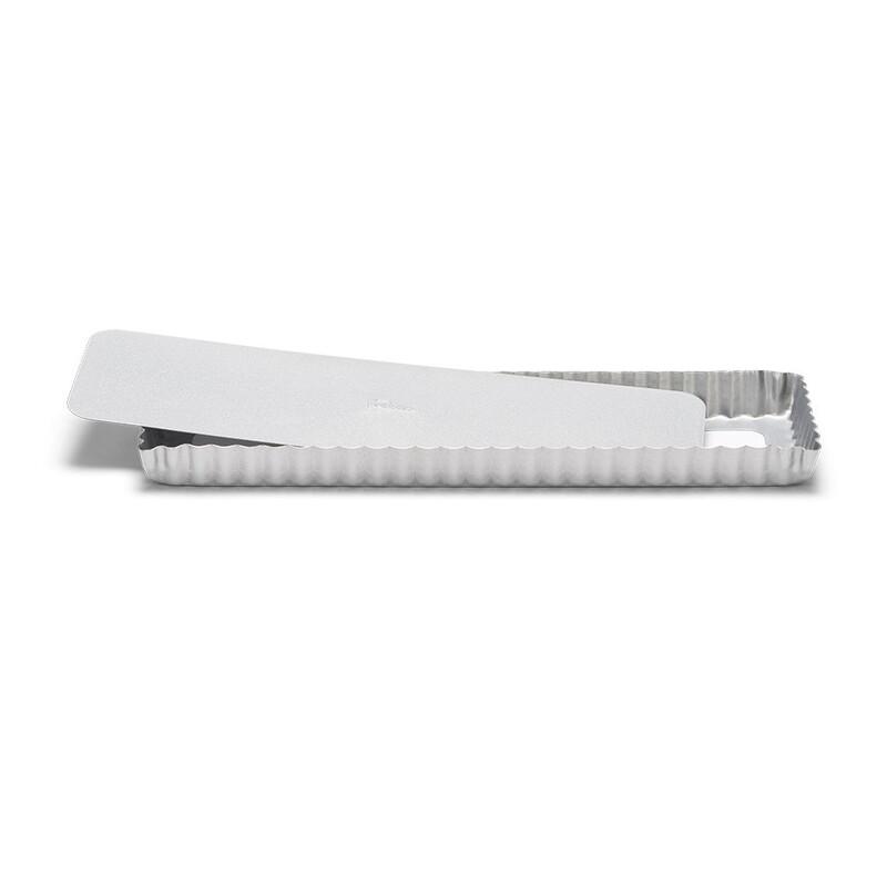 Moule à tarte rectangulaire antiadhésif avec fond amovible 35x11cm