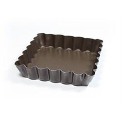 Moules à tartelettes carrés antiadhésifs par 6