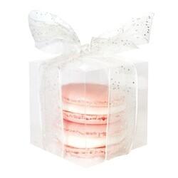 Boîte à dragées cube transparente Patisdécor (x4)