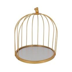 Présentoir cage à oiseaux doré Patisdécor 25 cm