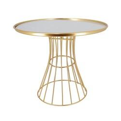 Présentoir gâteaux miroir doré Patisdécor 25 cm