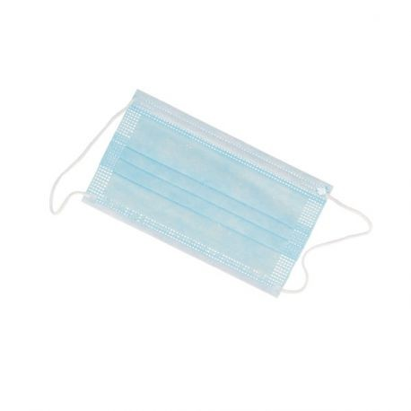 Masques de protection 3 plis avec élastiques (x50)