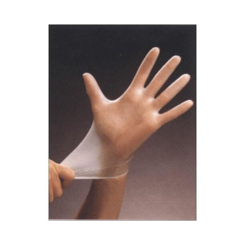 Gants d'examen vinyle blanc non poudré (x100)