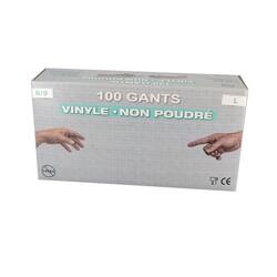 Gants jetables en vinyle (x100)