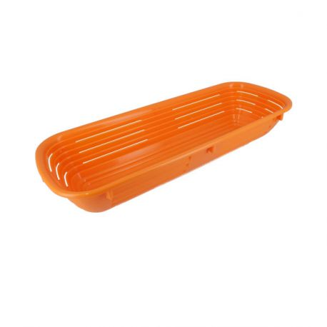 Banneton à fermentation plastique orange 13 x 35 cm