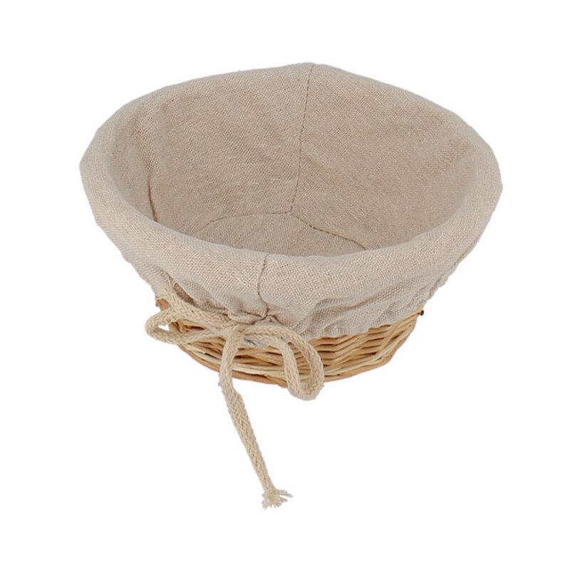Corbeille à pain ronde entoilée